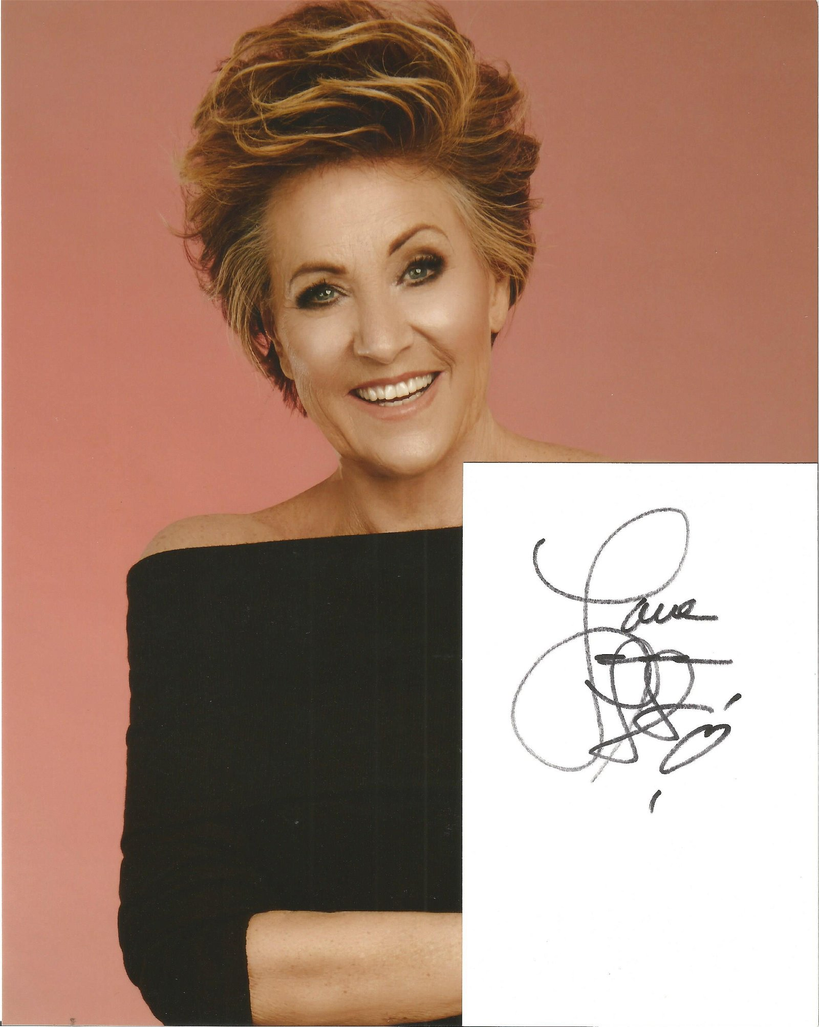 Lorna Luft signed white card with 10x8 colour photo.