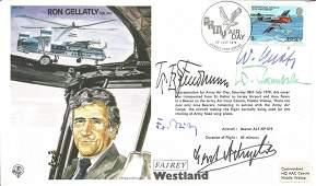 Luftwaffe aces WW2 multiple signed Ron Gellatly Test