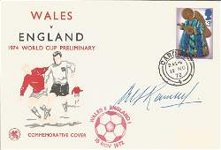 Alf Ramsey signed Wales v England 1974 World cup
