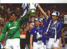 Neville Southall and Graeme Sharp signed 12x8 colour