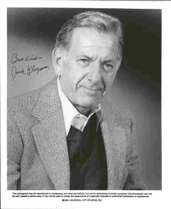 Jack Klugman signed 10x8 black and white photo. (April