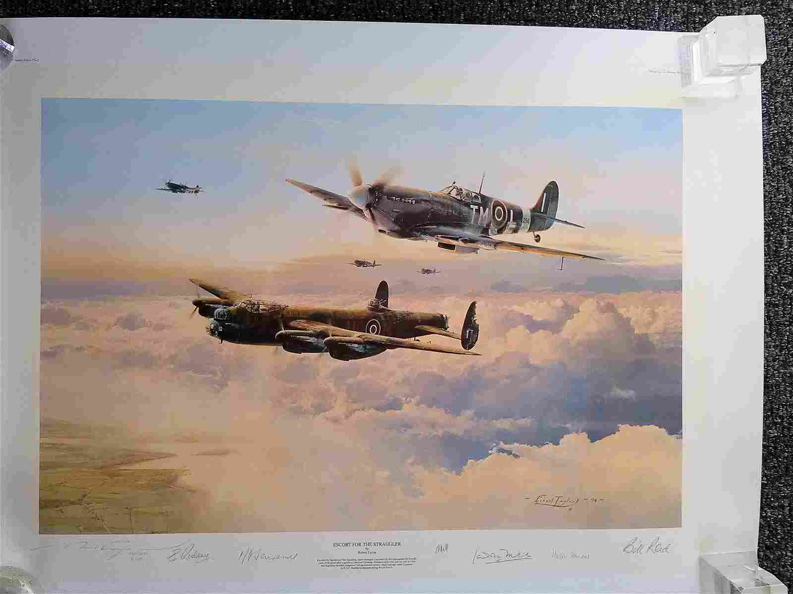 Escort for the Straggler WW2 multiple signed WW2 Robert
