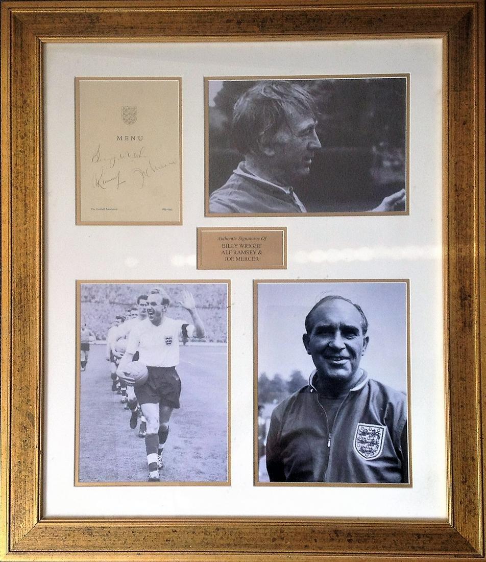 Football Legends Alf Ramsey, Billy Wright and Joe