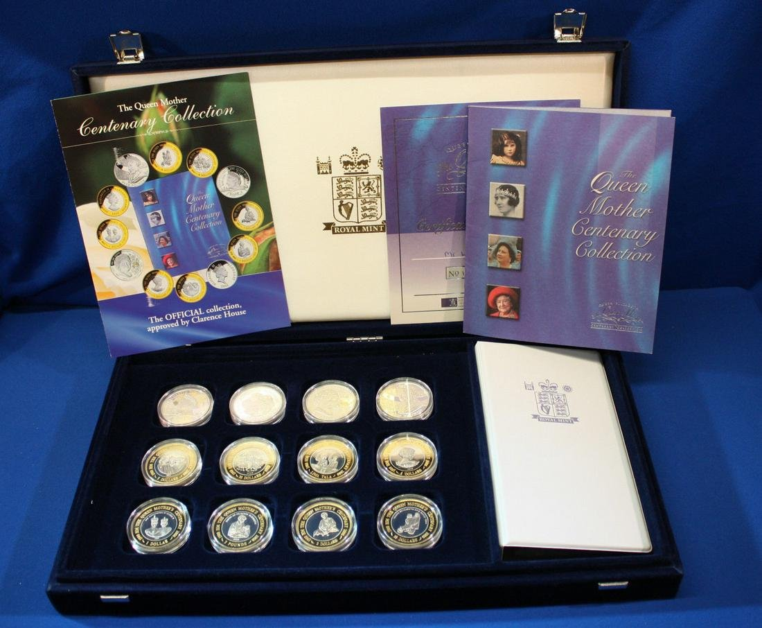 The Queen Mother 2001 Memorial Collection of 12 Silver