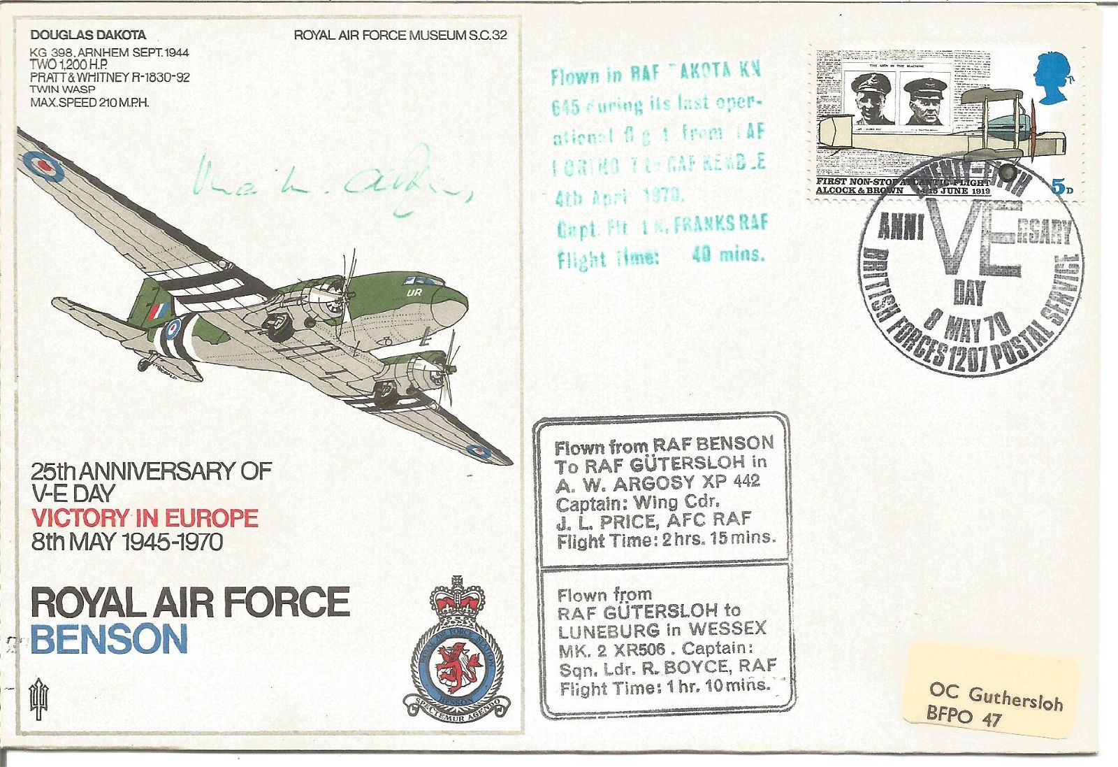 Rare WW2 resistance leader Vera Atkins signed Royal Air