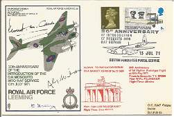 Multiple signed Royal Air Force Leeming signed 30th