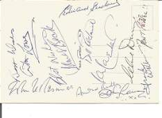 Dads Army post card signed by cast members Arthur Lowe