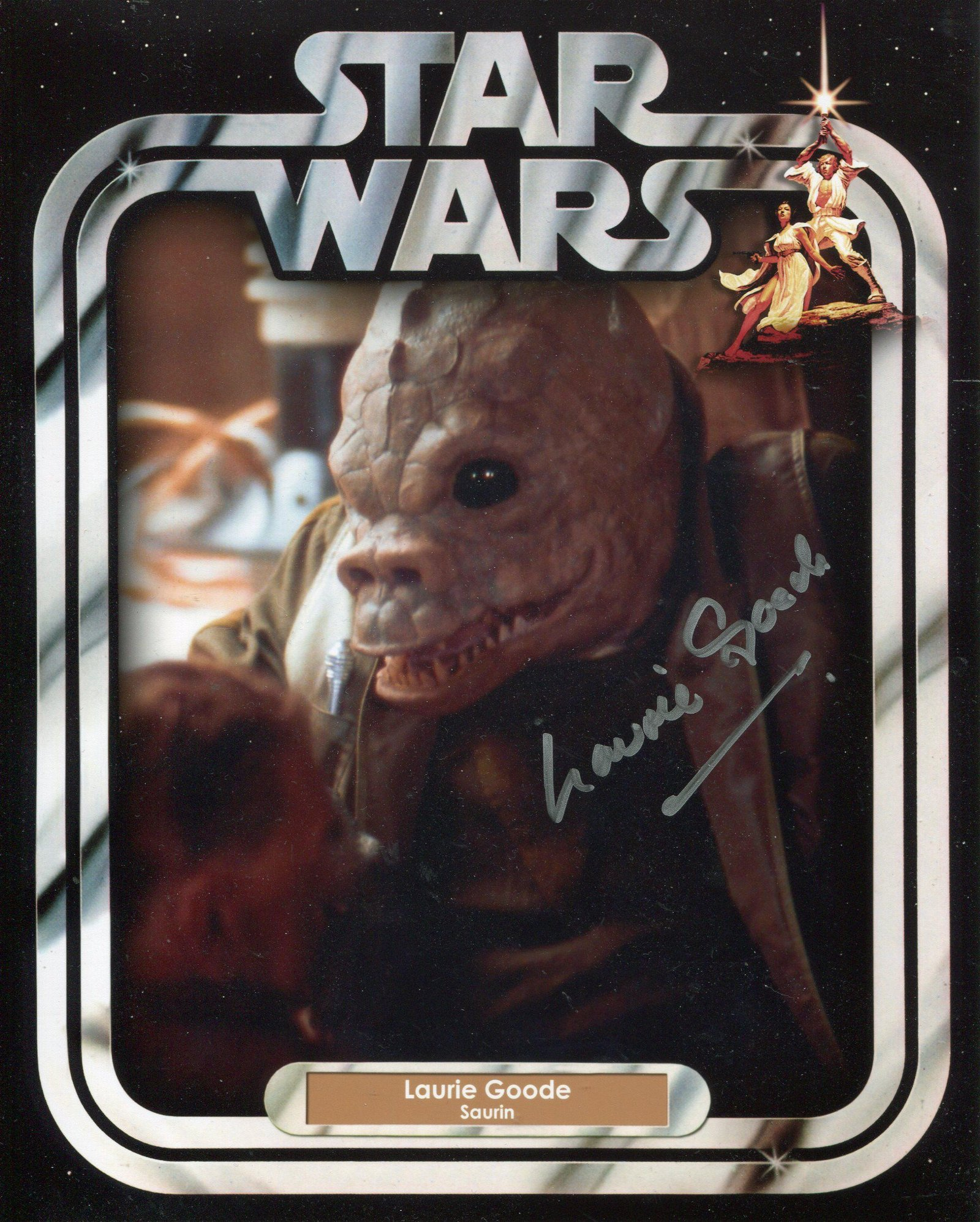 Star Wars. 8x10 photo signed by actor Laurie Goode as