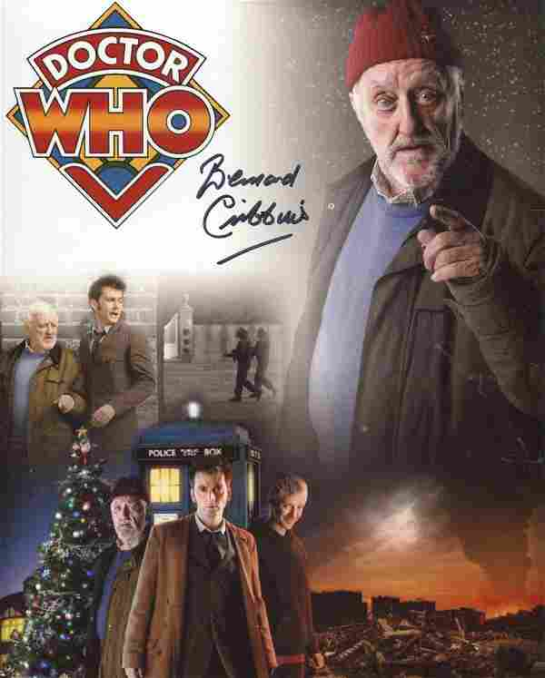 Doctor Who. 8x10 Doctor Who montage photo signed by