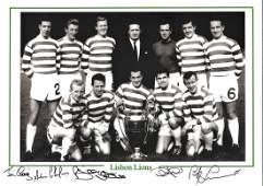 Football Celtic Lisbon Lions 12x16 black and white