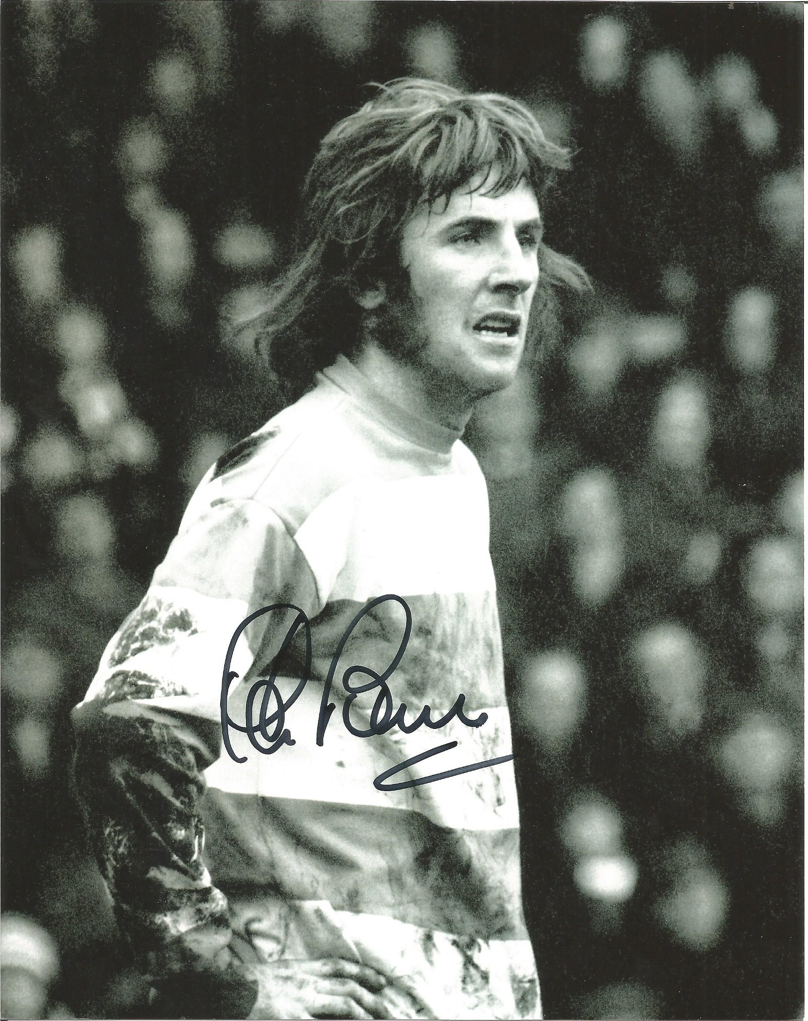 Football Stan Bowles 10x8 signed black and white photo