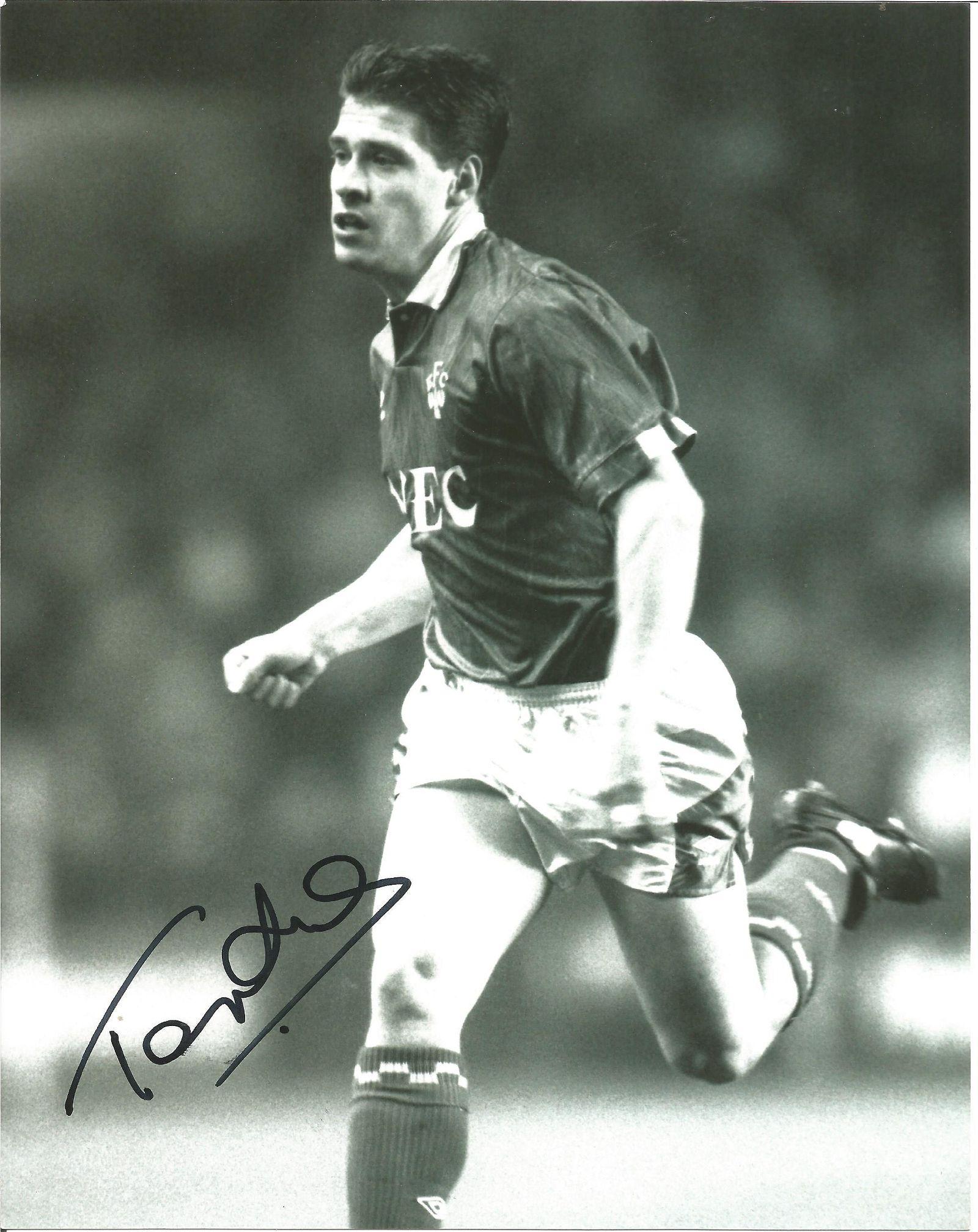 Football Tony Cottee Signed Everton 8x10 Photo. Good
