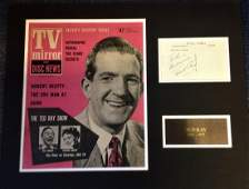 Ted Ray 15x19 mounted signature piece cw 1959 TV