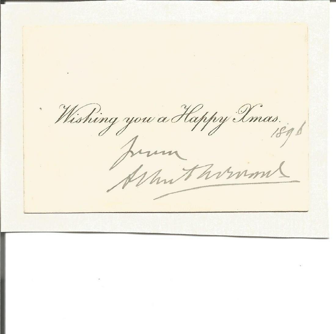Edward VII small signature piece dated 1896. Good
