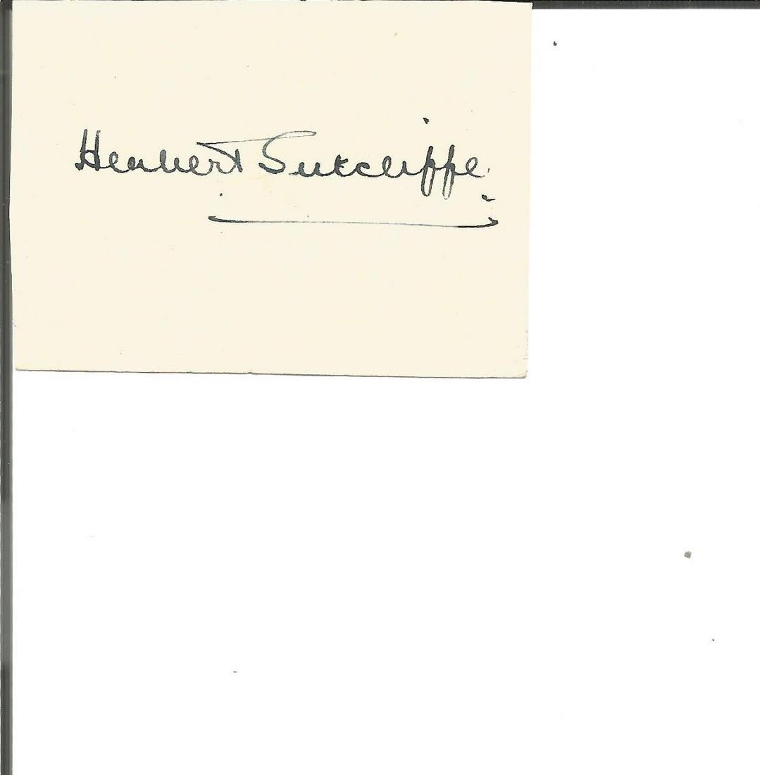Herbert Sutcliffe small signature piece. Good condition