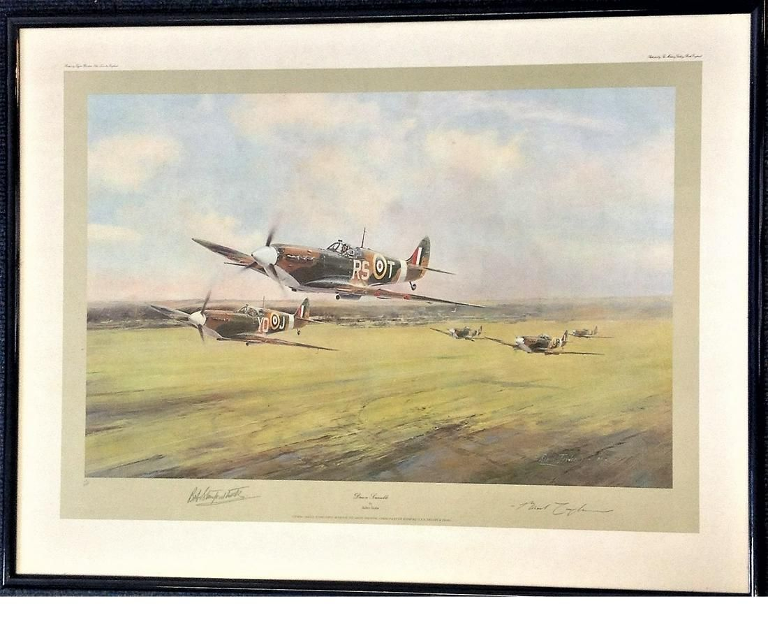 World War Two 24x31 framed and mounted print titled