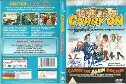 Carry On Again Doctor DVD Video signed on the cover by