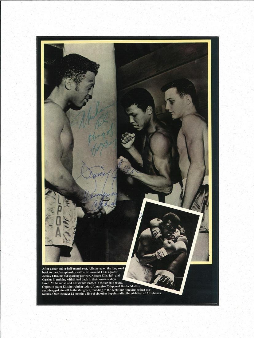 Boxing 15x11 mounted black and white magazine photo