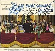 We are Amused 33rpm record sleeve signed by Fawlty