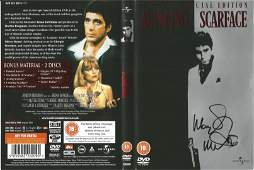 Scarface 2 Disc special edition DVD sleeve signed by