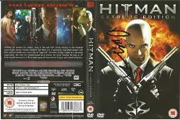 Timothy Olyphant signed Hitman DVD, signature on front