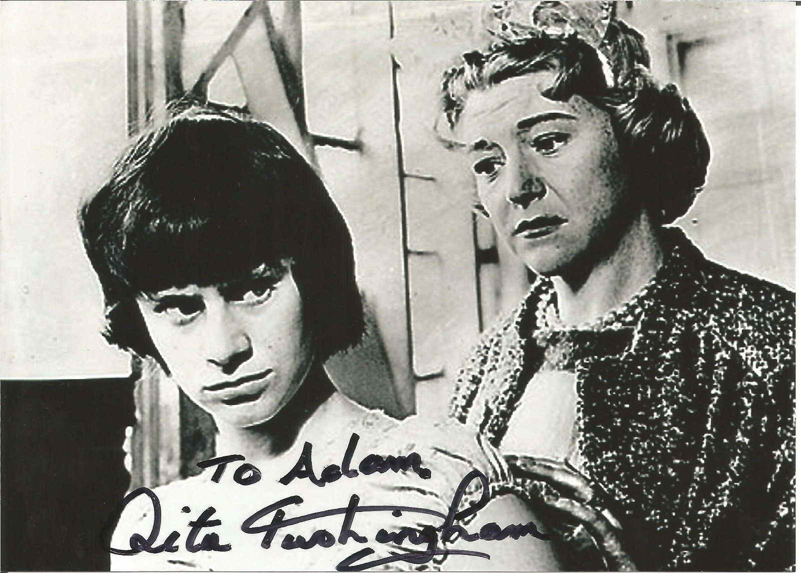 Rita Tushingham signed 7x5 black and white photo.