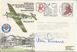 Luftwaffe ace General Adolf Galland KC signed ME109 Raf
