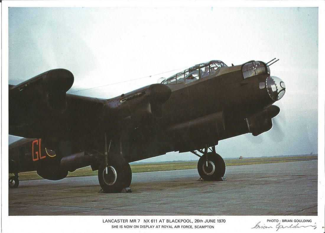 World War Two 10x8 colour photo picturing Lancaster MR