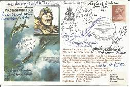 Battle of Britain pilots multiple signed RAF WW2 cover.