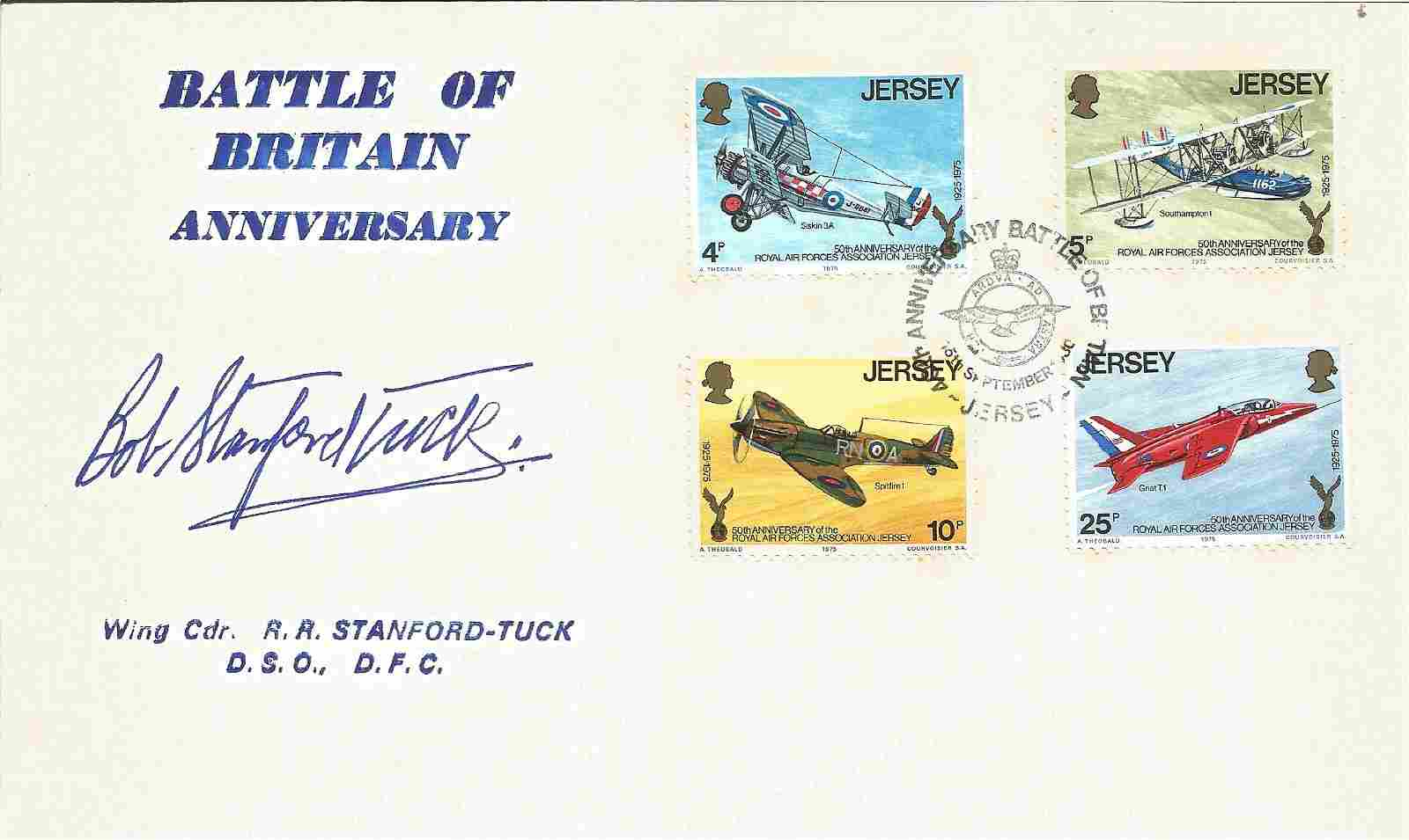 WW2 fighter ace Robert Stanford Tuck signed Battle of