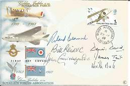 Rare WW2 multiple signed 1968 RAF FDC. Signed by John