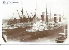 RMS Titanic survivor Bertram V Dean signed 6 x 4