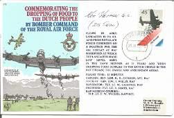 Ken Farrow GC WW2 218 Sqn signed Lancaster flown cover