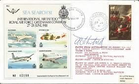 Tony Theobald cover artist signed 1981 RAF Greenham