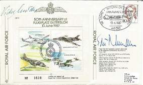 Luftwaffe aces Viktor Molders and Edu Neumann signed