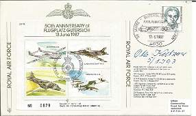 Luftwaffe ace Otto Kutzner 9 victories signed 50th ann