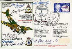 WW2 Luftwaffe aces. RAF Andover cover signed by Hughie