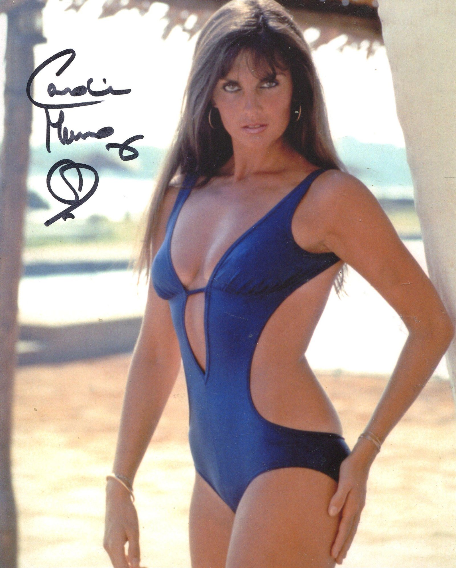 Bond girl. 8x10 inch photo signed by The Spy Who Loved
