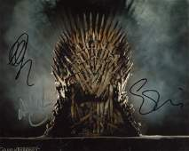 Game of Thrones cast signed. 8x10 photo signed by THREE
