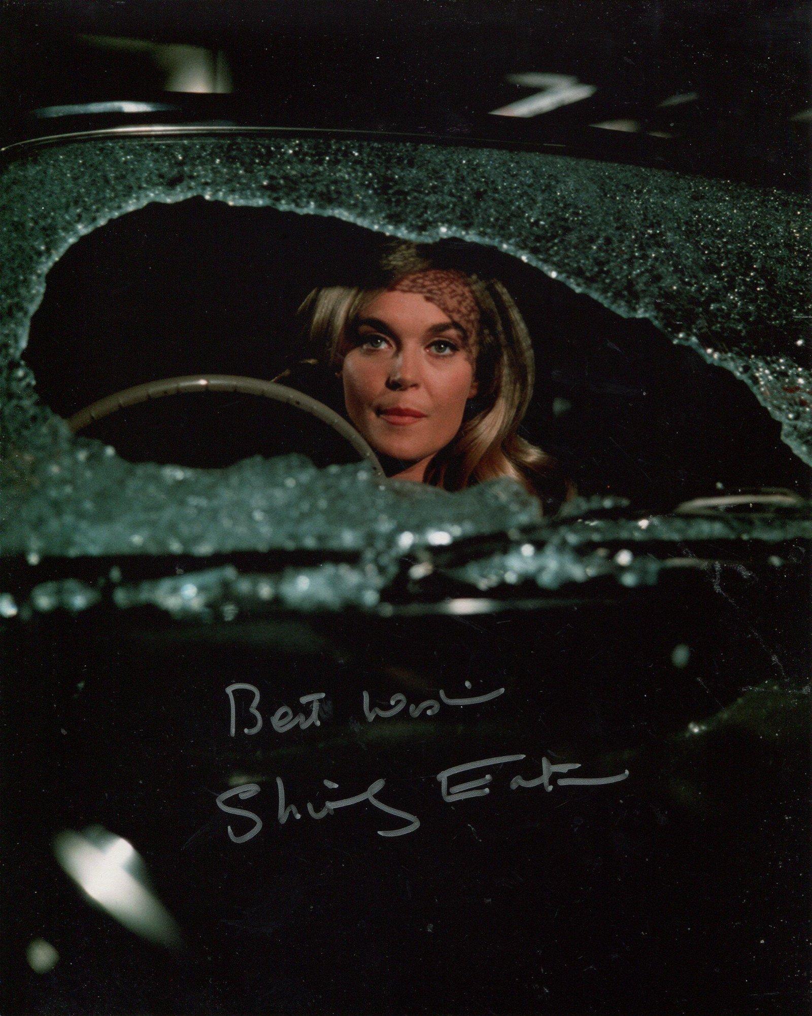Bond girl. 8x10 inch photo signed by Bond girl Shirley