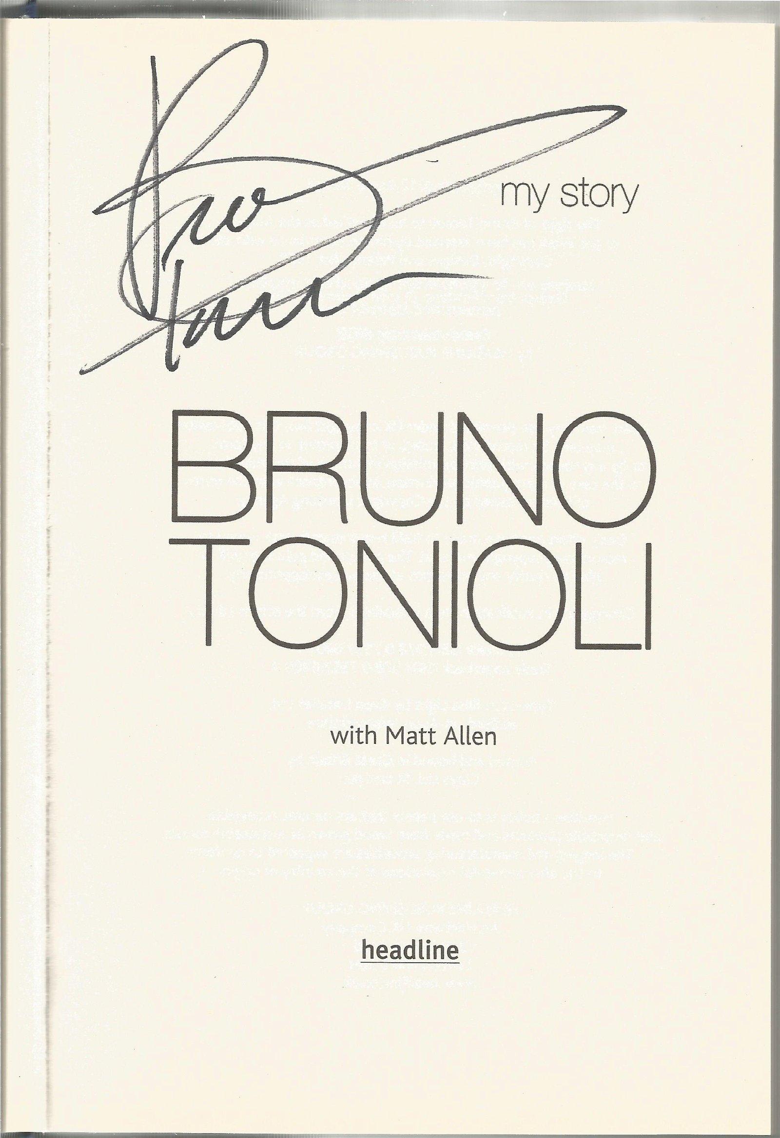 Bruno Tonioli signed My Story hardback book. Signed on