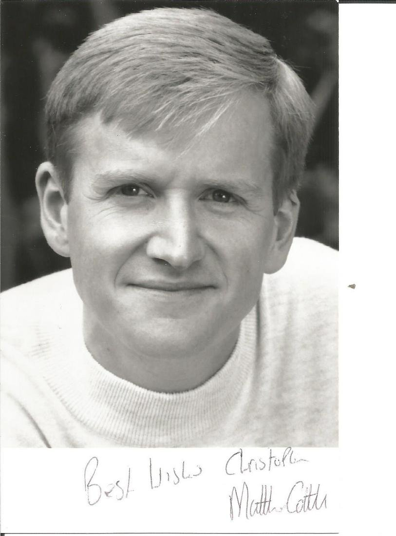Matthew Cottle signed dedicated 6x4 b/w photo Actor.