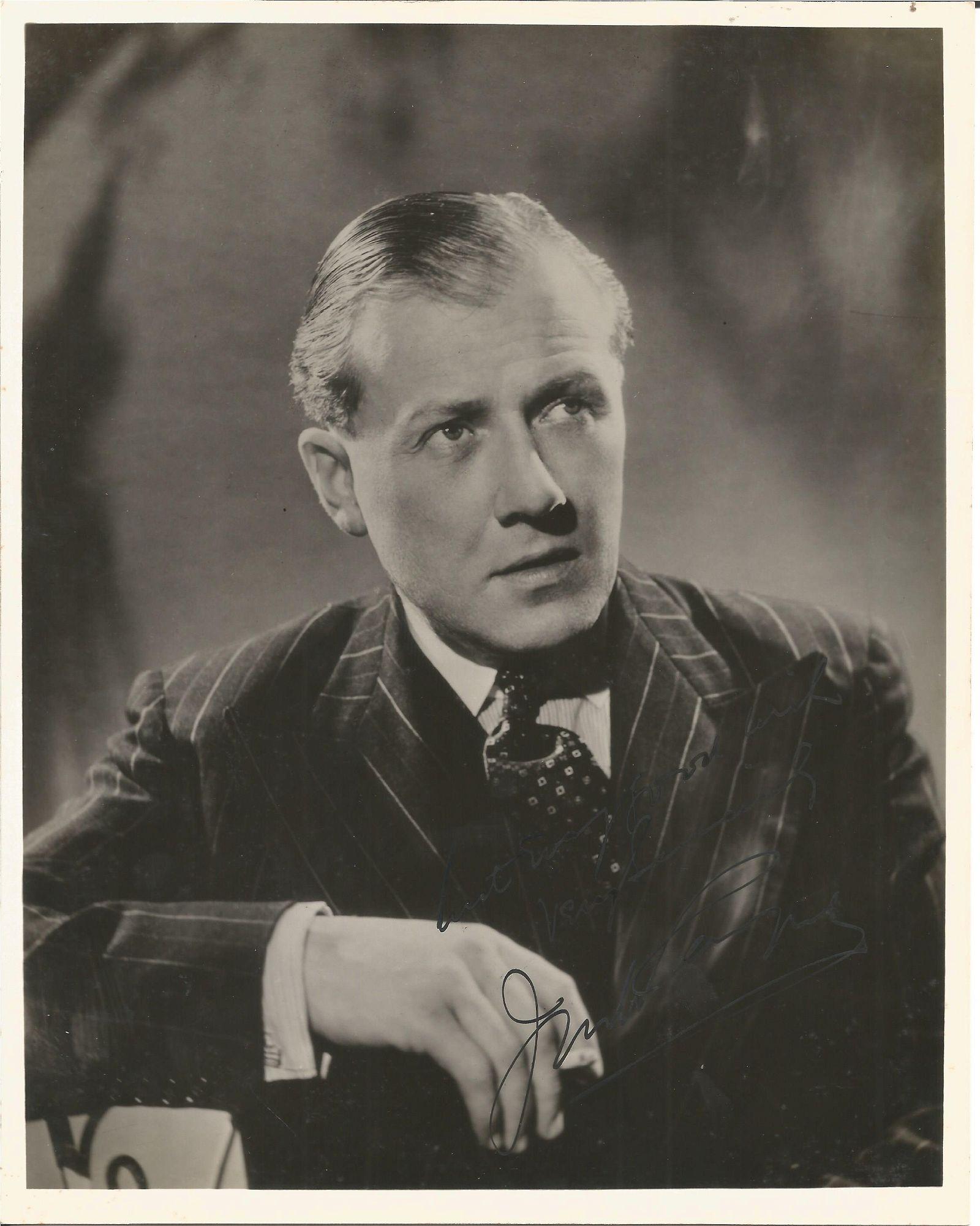 Jack Payne signed 10x8 black and white photo. TV Film