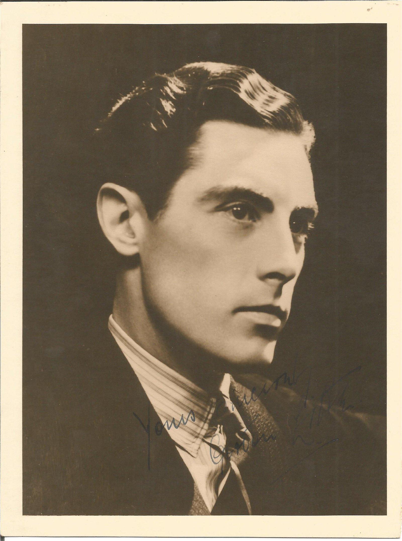 Gordon Little signed 8x6 vintage photo. TV Film