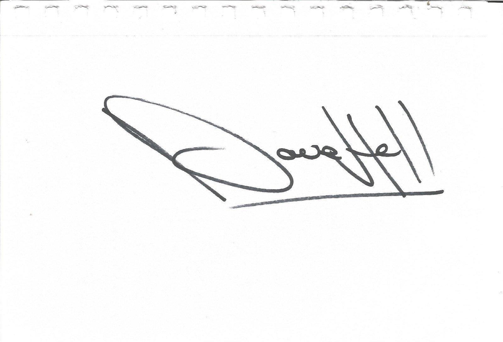 Dave Hill signed large album page. TV Film autograph.