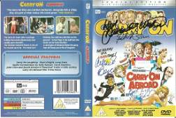 Carry On Abroad DVD video signed on the cover by