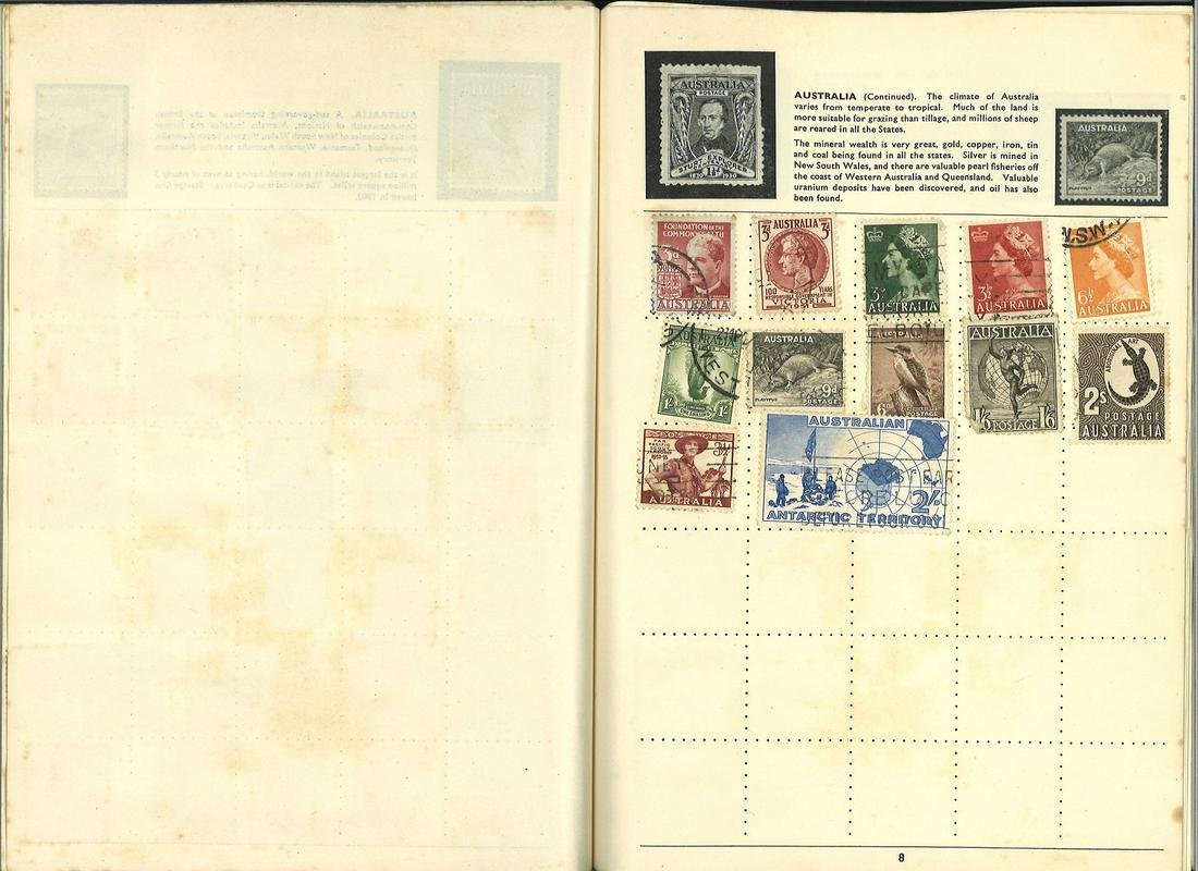 GB and British Commonwealth stamp collection in blue A5