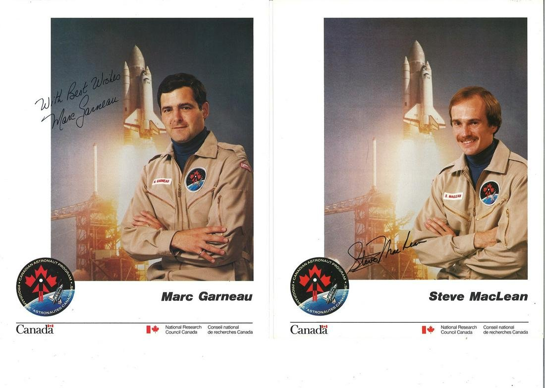 Canadian Astronauts six individual signed 10 x 8 colour