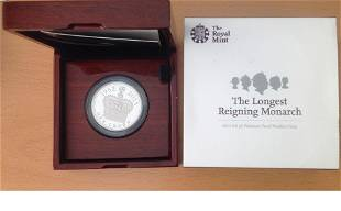 Rare Royal Mint 2015 UK 5 Platinum Proof Piedfort