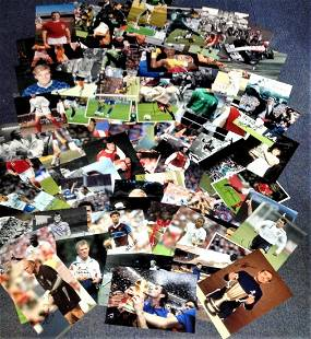 Football and Sport collection 100 signed photos mainly